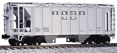 Kato USA Inc AC&F 70 Ton Covered Hopper (3) Seaboard Air Line -- HO Scale Model Train Freight Car -- #380111
