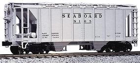 Kato AC&F 70 Ton Covered Hopper (3) Seaboard Air Line HO Scale Model Train Freight Car #380111