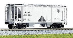 Kato ACF 70 Ton Open Side Covered Hopper Boston & Maine HO Scale Model Train Freight Car #380201