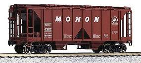 Kato ACF 70 Ton Open Side Covered Hopper (3) Monon HO Scale Model Train Freight Car #380204
