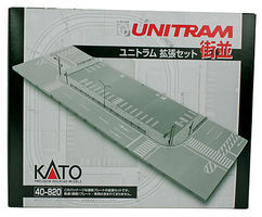 Kato Unitram Street Set N Scale Model Railroad Road Accessory #40820
