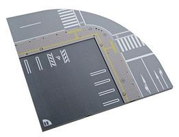 Kato Unitram Street Track Quarter Circle (45-Degree) N Scale Model Train Roadway Accessory #41100