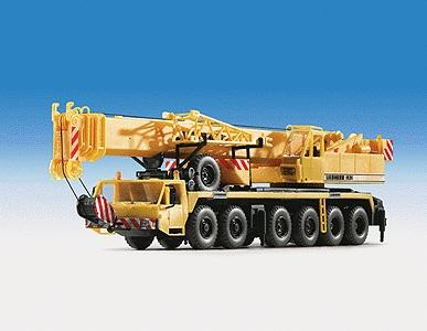 Kibri Liehberr 1120 Telescoping Crane Kit w/Extended Jib -- HO Scale Model Railroad Vehicle -- #13012