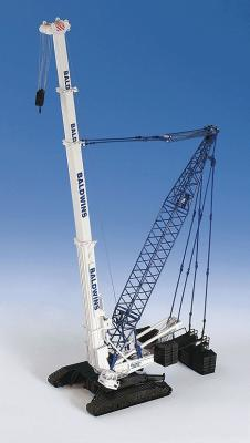 Kibri Liebherr LTR 1800 Crane Kit -- HO Scale Model Railroad Vehicle -- #13022