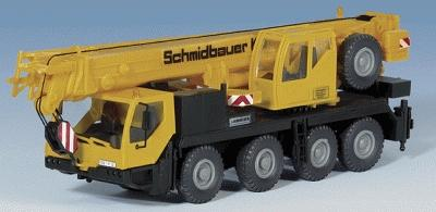Kibri Liebherr 4-Axle Truck Crane Kit -- HO Scale Model Vehicle -- #13027