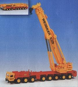 Kibri Liebherr 1400 8-Axle Truck Crane Kit w/Telescoping Boom -- HO Scale Model Vehicle -- #13034