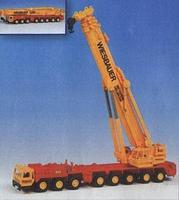 Kibri Liebherr 1400 8-Axle Truck Crane Kit w/Telescoping Boom HO Scale Model Vehicle #13034
