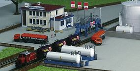 Kibri Office Building w/Fuel Tanks Kit Z Scale Model Railroad Building #36727