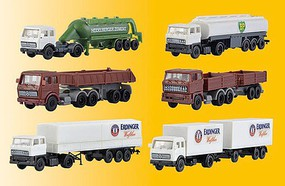 Kibri Set Trailer Trucks 6/ - Z-Scale