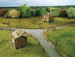 Kibri Barn w/wooden fence 2/ - N-Scale (2)