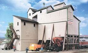 Kibri Gravel Works & Loading Silo Kit (6 x 4-3/16 x 4-5/8) N Scale Model Railroad Building #37226