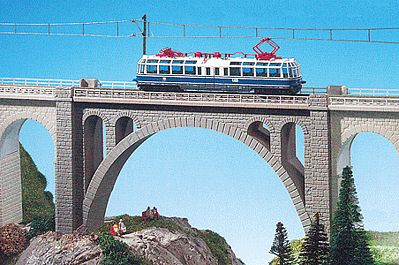 Kibri Stone Arch Viaduct Bridge N Scale Model Railroad Bridge #37666