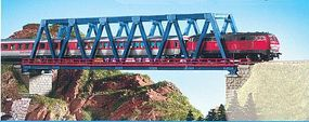 Kibri Box Girder Bridge w/Piers (Blue) N Scale Model Railroad Bridge #37667
