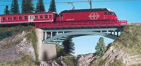 Kibri Bridge with End Supports (Single or Double Track) N Scale Model Railroad Bridge #37668
