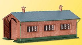 Kibri Single Track Loco Shed Kit N Scale Model Railroad Building #37802