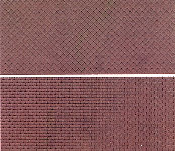 Kibri Rough Cut Slate Roofing Plastic Sheet N Scale Model Railroad Supplies #37967
