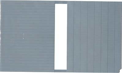 Kibri Corrugated & Tin Roofing Plastic Sheet N Scale Model Railroad Scratch Supply #37972