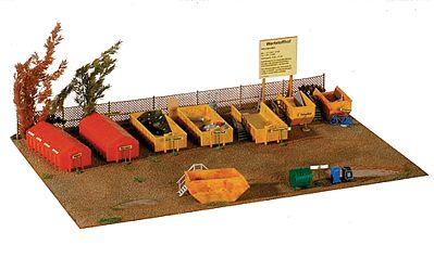 Kibri Recycling Park Kit HO Scale Model Railroad Building Accessory #38155