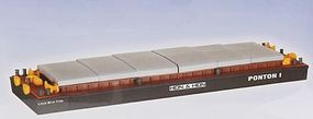 Kibri Bulk Material Loading Barge Kit HO Scale Model Railroad Accessory #38524