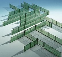 Kibri Mesh Fencing Kit 3.3 Yards 3 Meters (Green) HO Scale Model Railroad Building Accessory #38603