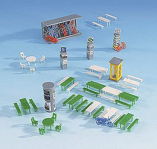 Kibri Marketplace Accessories HO Scale Model Railroad Accessories #38608
