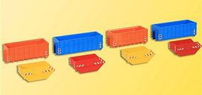 Kibri Assorted Disposable Containers HO Scale Model Train Freight Car Load #38648