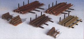 Kibri Assorted Logs for Sawmill Kit HO Scale Model Railroad Building Accessory #38663