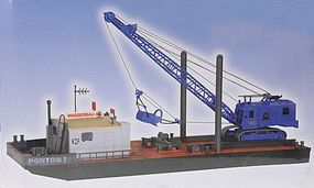 Kibri Working Pontoon with Excavator HO Scale Model Railroad Building Kit #39156