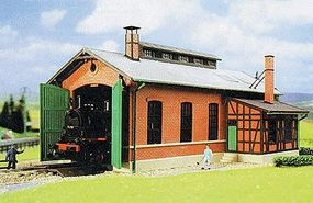 Kibri Single Stall Engine House HO Scale Model Railroad Building Kit #39436