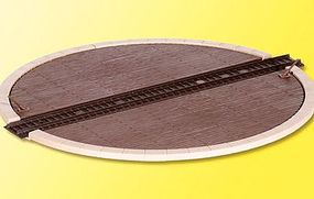 Kibri Manual Turntable (30cm Dia 12'' Dia) HO Scale Model Railroad Operating Accessory #39456