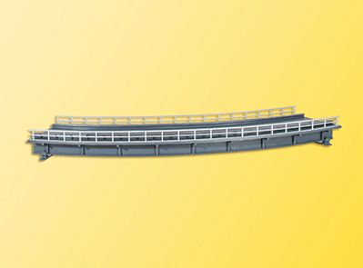 Kibri Curved Steel Girder Bridge Kit (Single Track) -- HO Scale Model Railroad Bridge -- #39706