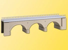 Kibri Stone Elbow Bridge Kit (Single Track) HO Scale Model Railroad Bridge #39721