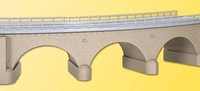 Kibri Curved Stone Arch Bridge w/Ice-Breaker Columns (Single Track) HO Scale Model Bridge #39722