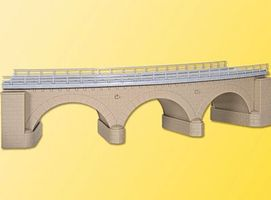 Kibri Curved Stone Bridge Kit (Single Track 45 Degrees) HO Scale Model Railroad Bridge #39723