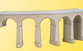 Kibri Curved Stone Riedberg-Viaduct Single Track (90 Degrees) HO Scale Model Railroad Bridge #39725