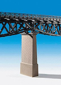 Kibri Brick Viaduct Pillar (2) -- HO Scale Model Railroad Bridge -- #39751