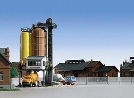 Kibri Construction Cement Works HO Scale Model Railroad Building Kit #39804