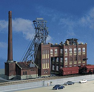 Kibri Herbede Boiler Factory Kit HO Scale Model Railroad Building #39846