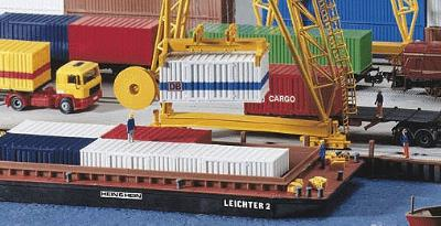 Kibri Container Barge/Lighter -- 11-13/64 x 3-5/8 x 1'' 28 x 9 x 2.3cm - HO-Scale