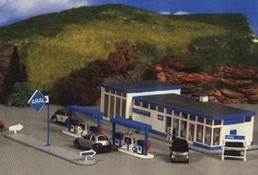 Kibri Aral Gas Station HO Scale Model Railroad Building Kit #8541