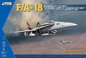 Kinetic-Model F/A18A/B/C/D Fighter Plastic Model Airplane Kit 1/32 Scale #3204