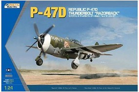 Kinetic-Model P-47D Thunderbolt Razorback Plastic Model Airplane Kit 1/24 Scale #3208