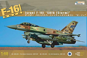 Kinetic-Model F16I Sufa (Storm) Israeli AF Aircraft Plastic Model Airplane Kit 1/48 Scale #48006