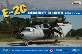 Kinetic-Model E2C Hawkeye French Navy Aircraft Plastic Model Airplane Kit 1/48 Scale #48015