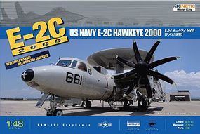 Kinetic-Model E-2C Hawkeye USN Plastic Model Airplane Kit 1/48 Scale #48016