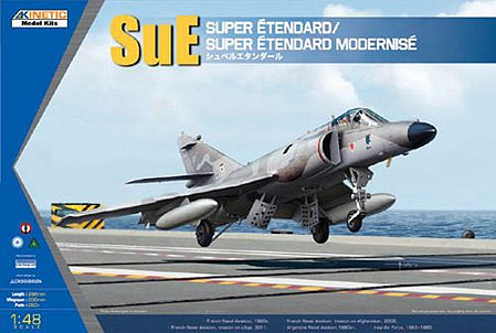 Kinetic-Model Super Etendard/Super Etendard Modernise Plastic Model Airplane Kit 1/48 Scale #48061