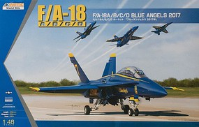 Kinetic-Model F/A-18A/B/C/D Blue Angels 2017 Plastic Model Airplane Kit 1/48 Scale #48073