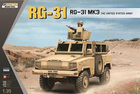 Kinetic-Model RG31 Mk 3 Army Mine-Protected APC Plastic Model Personnel Carier Kit 1/35 Scale #61012