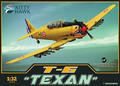 Kitty Hawk Models T6 Texan Advanced Trainer Aircraft -- Plastic Model Airplane Kit -- 1/32 Scale -- #32002