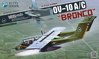 KittyHawk OV10A/C Bronco 2-Seater Turboprop Light Attack Plastic Model Airplane Kit 1/32 Scale #32004